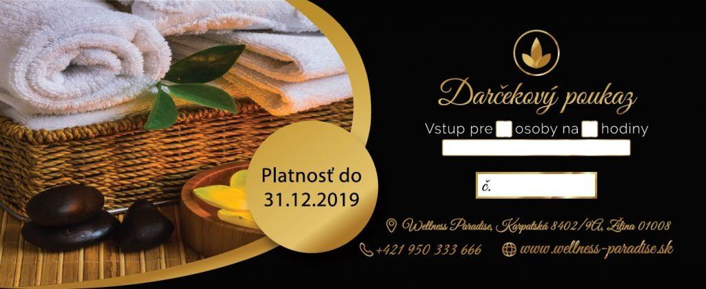 Darčekový poukaz 2018-2019, gift voucher, entrance