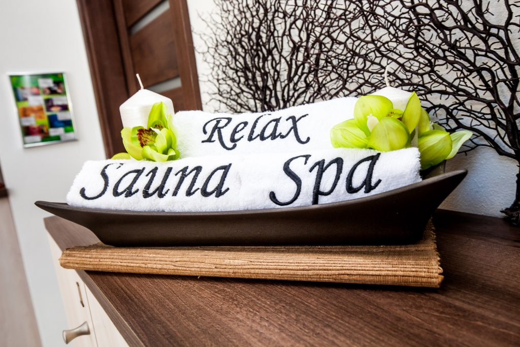 Relax, Sauna, SPA, uterák, osuška, towel, nápis, reklama