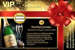 Darčekový poukaz - VIP, private entry, gift voucher PARADISE