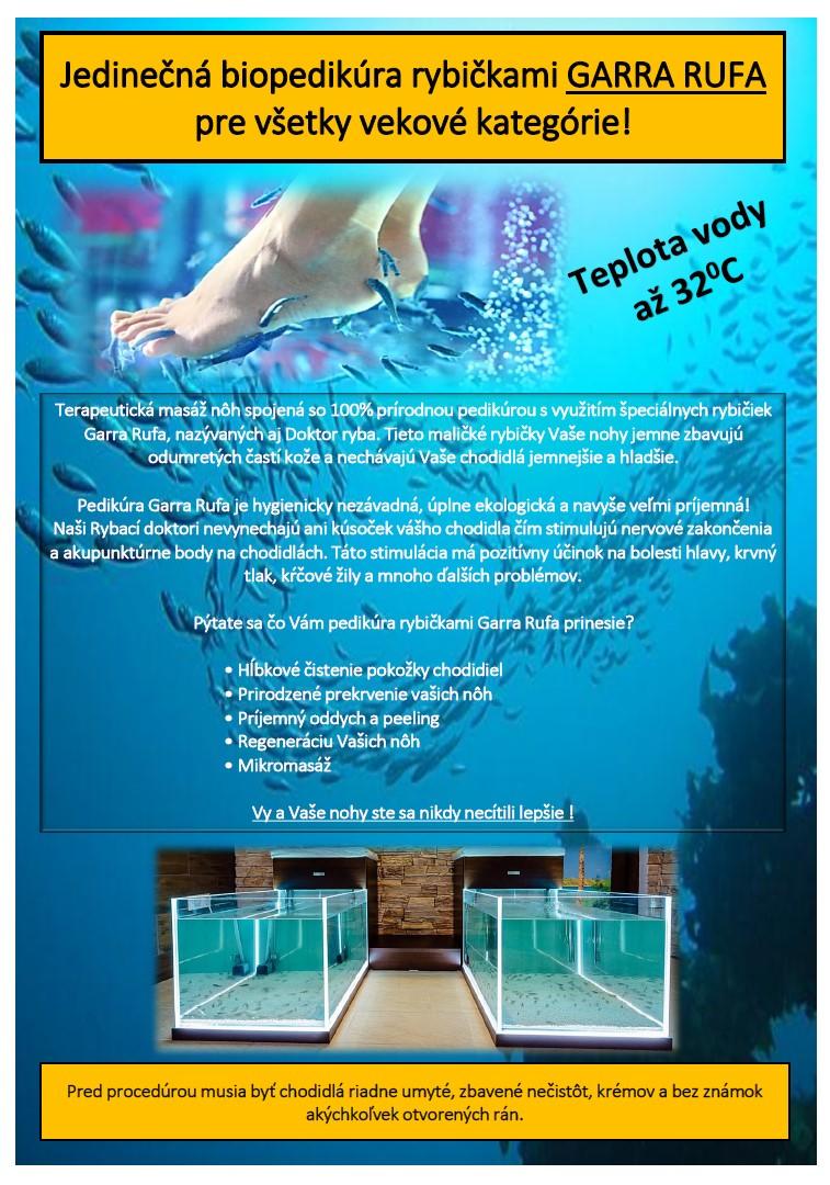 Garra Rufa biopedikura rybickami, fish therapy, health, zdravie, chodidlá, psoriáza, vyliečiť