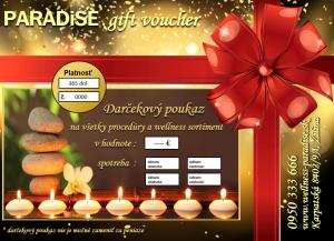 Univerzálny darčekový poukaz, Darčekový poukaz, gift voucher PARADISE, Christmas gift, Vianočný darček